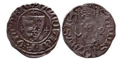 I. Lajos 1342-82 denár -P Buda ÉH 429
