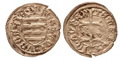 Hunyadi János 1446-53 denár B-? ÉH 485