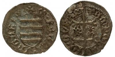 Hunyadi János 1446-53 denár B-n* ÉH 485