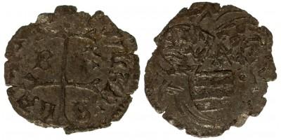 I. Ulászló 1440-44 denár B-n* ÉH 469