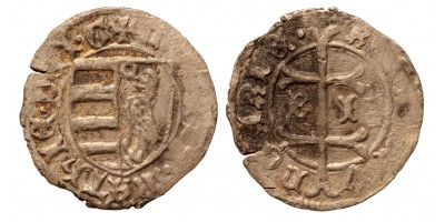 I. Mátyás 1458-90 denár B-I ÉH 556