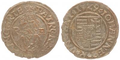 Szapolyai János denár 1529 R-A