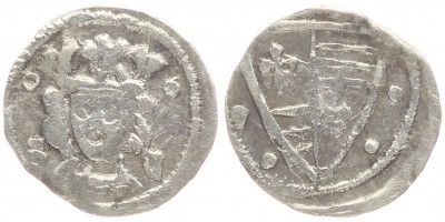 Károly Róbert 1307-42 denár S-C Zágráb ÉH 356