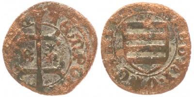 Hunyadi János 1446-53 denár B-n* ÉH 485 korabeli hamis