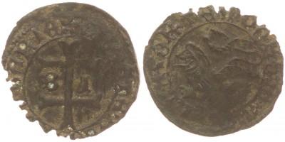 Hunyadi János 1446-53 denár B-I ÉH 487 RRR!