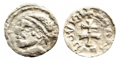 I. Lajos 1342-82 obolus ÉH 438