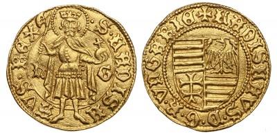 V. László 1440/1453-57 aranyforint ÉH 519 RR!