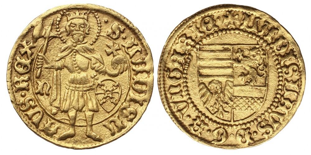 V. László 1440/1453-57 aranyforint ÉH 515 R!