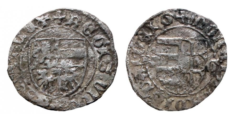 V. László 1453-57 denár K-G