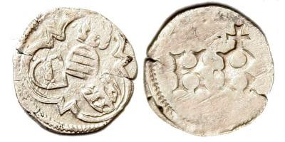 Interregnum 1439-40 denár ÉH 464a R!