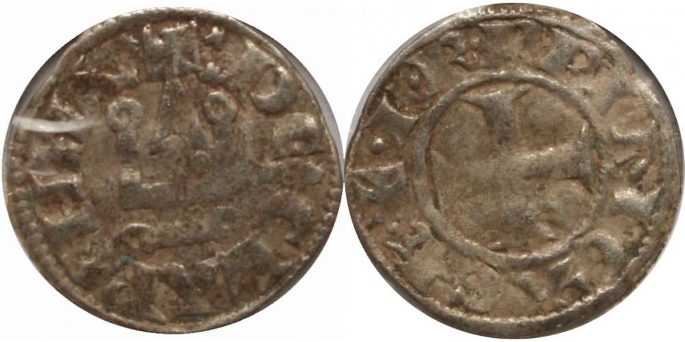 Keresztesek Achaia I-II. Charles d'Anjou 1278-89 denár