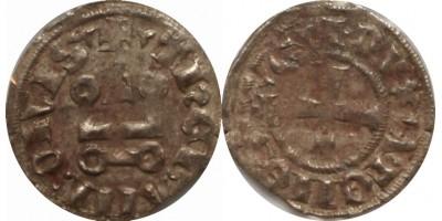 Keresztesek Athén Guillaume de la Roche 1280-87 denár