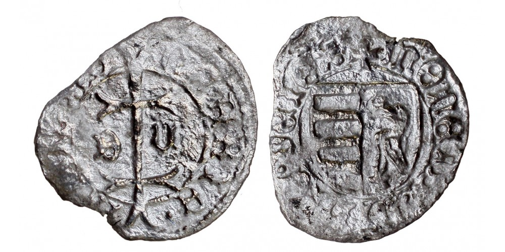I. Mátyás 1458-90 denár n-E ÉH 556