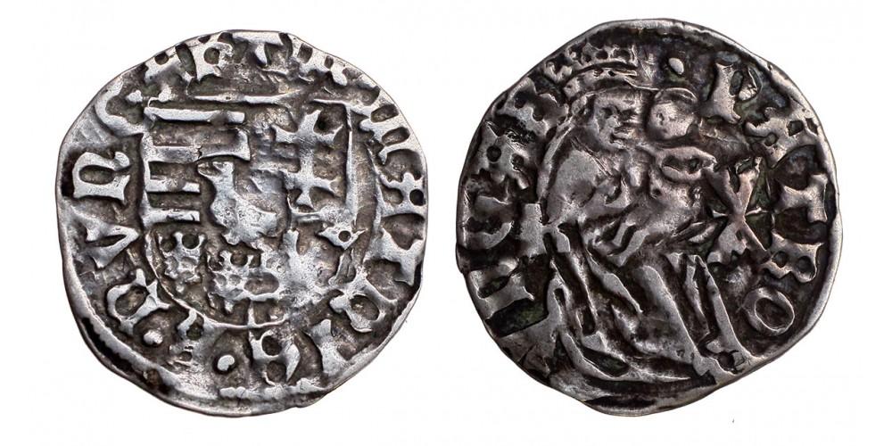 I. Mátyás 1458-90 denár ÉH 565