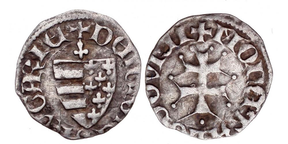 I. Lajos 1342-82 denár ÉH 437