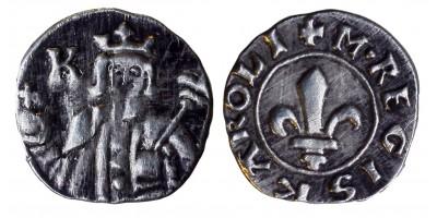 Károly Róbert 1307-42 denár ÉH 383 RRR!