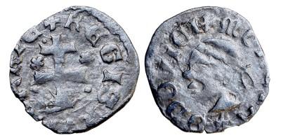 I. Lajos 1342-82 denár, rozetta-rozetta ÉH 432