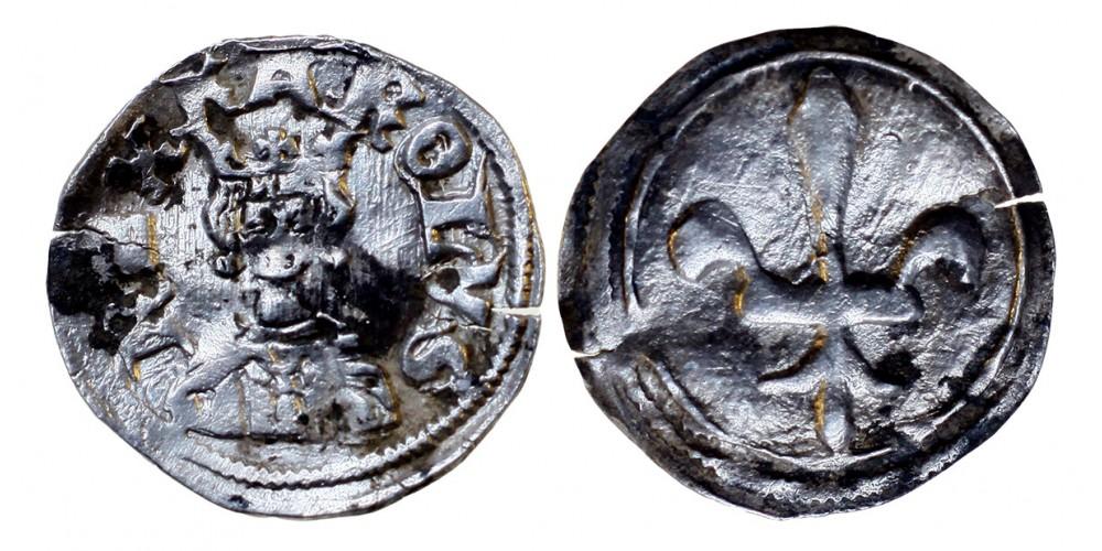 Károly Róbert 1307-42 denár ÉH 401 R!