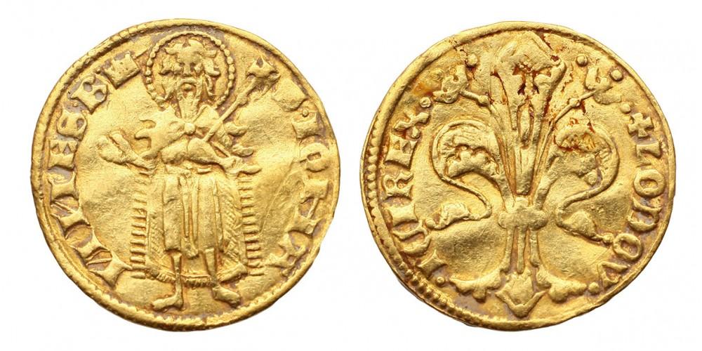 I. Lajos aranyforint EH 405