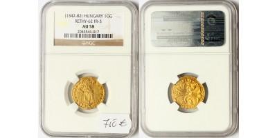 I.Lajos 1342-82 aranyforint ÉH 405