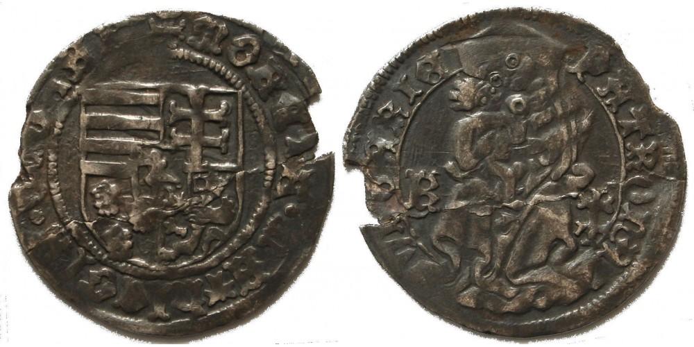 I. Mátyás 1458-90 garas K-kettős kereszt cross ÉH 550 R!