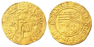 I. Mátyás 1458-90 aranyforint ÉH 540 korabeli hamis