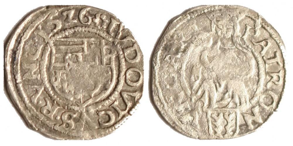 Zrínyi Miklós denár 1526 RR!