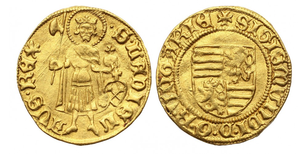 Zsigmond aranyforint Nagyszeben ÉH 446