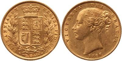 Nagy-Britannia  Viktória (1837-1901) sovereign 1866