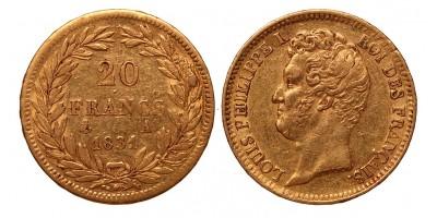 Franciaország 20 frank 1831 A