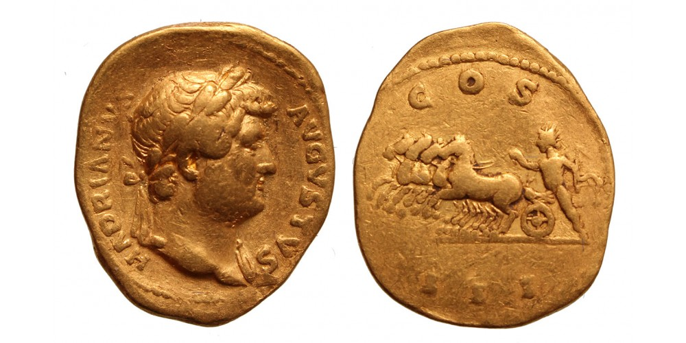 Hadrianus AV aureus, Rome