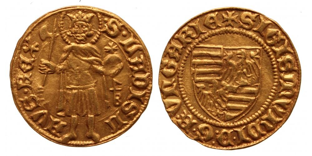 Luxemburgi Zsigmond (1387-1437) aranyforint AK/3A
