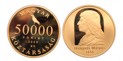 Mátyás 50000 forint 2008 PP