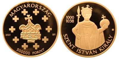 Szent István arany 500000 forint 2021