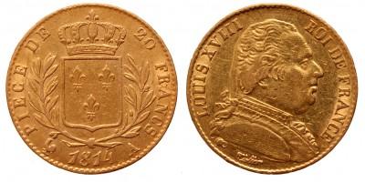 Franciaország 20 frank 1814 A