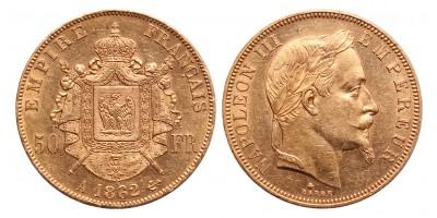 Franciaország III.Napoleon 50 frank 1862 A