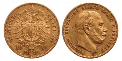 Porosz 10 márka 1873 B