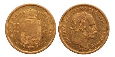 10 frank 4 forint 1871 K.B.