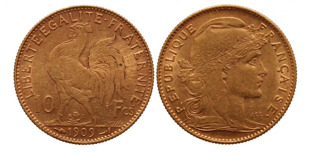 Franciaország 10 frank 1909