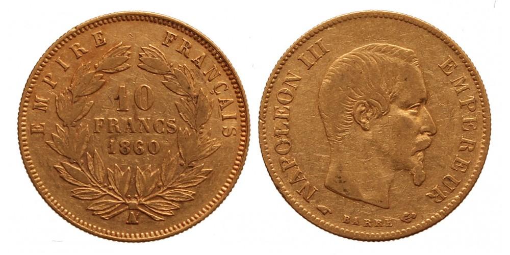 Franciaország 10 frank 1860 A