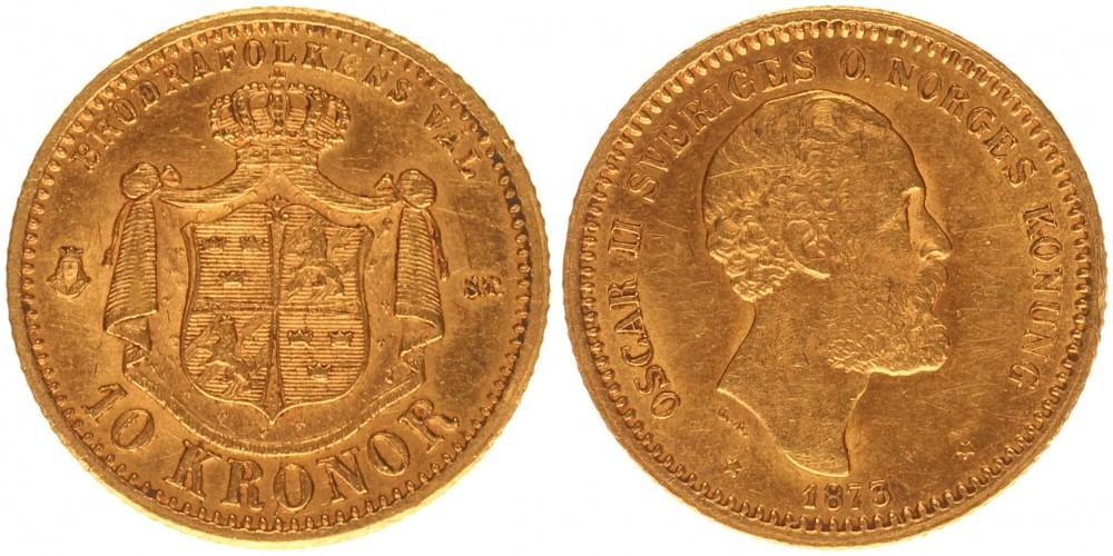 Svédország 10 kronor 1873