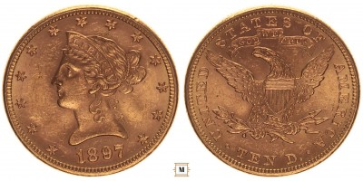 USA 10 dollár 1897