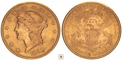 USA 20 dollár 1899