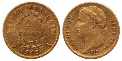 Franciaország 20 francs 1812 A