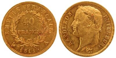 I. Napoleon 40 frank 1811 A