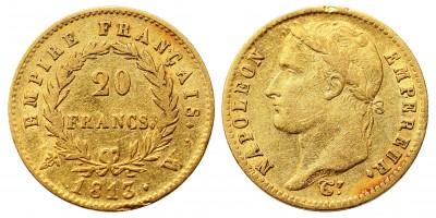 Franciaország I.Napoleon 20 frank 1813 W