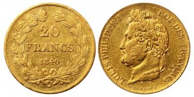 Franciaország arany 20 Francs 1840 A