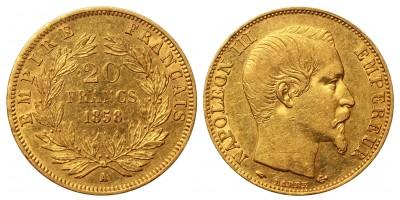 France gold 20 Francs 1858 A