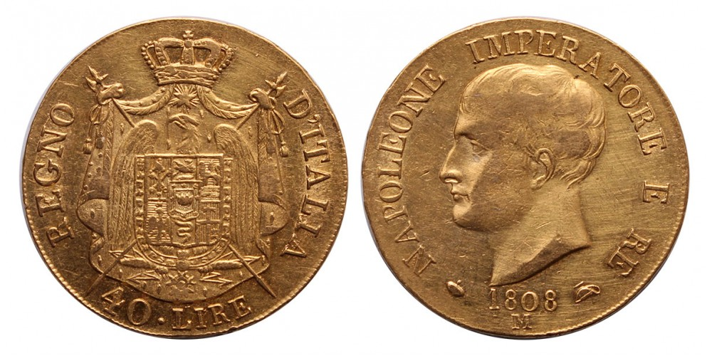 I.Napoleon 40 lira 1808 M