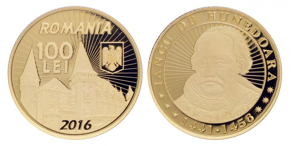 Románia 100 lej 2016 PP Hunyadi János